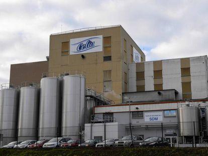 Fábrica de la leche infantil Celia, propiedad del grupo Lactalis en Craon, el 4 de diciembre.