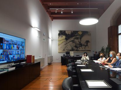 El consejero de Hacienda, Vicent Soler, participa en el Consejo de Política Fiscal y Financiera.