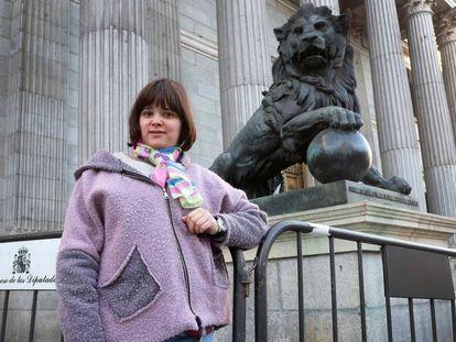 Nerea Cuerbo, con síndrome de insuficiencia madurativa, activista de la iniciativa de la reforma.
