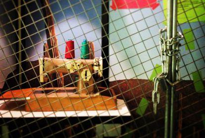 Una de las obras de la exposición 'Puertas'.