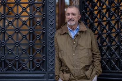 Arturo Pérez-Reverte en la Real Academia Española, en Madrid, el año pasado.