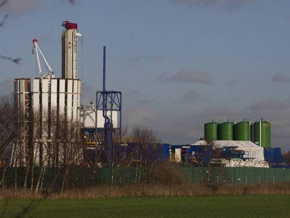 Proceso de extracción de gas en Barton Moss (Manchester, Reino Unido).