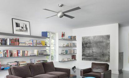 Los ventiladores de techo se adaptan a distintos ambientes y ocupan menos espacio.