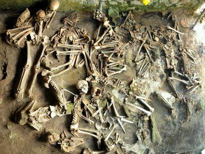 Los habitantes de Herculano se refugiaron en vano en los 'fornici', unos almacenes portuarios de la erupción volcánica.