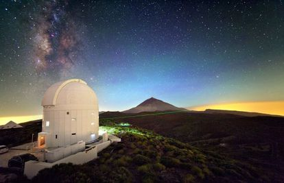 La Estación Óptica Terrestre, en Tenerife, durante el experimento de teletransporte cuántico.