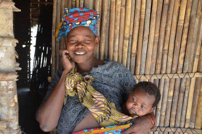 La 'capulana' es una tela africana generalmente asociada a las mujeres.