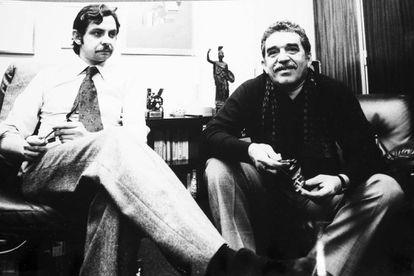 Juan Luis Cebrián con Gabriel García Márquez en 1978.