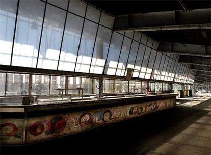 Vista interior del canódromo de la Meridiana, que será el centro de artes visuales de Barcelona.