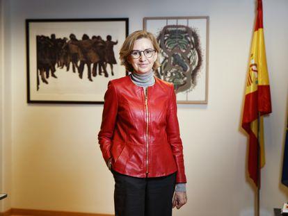 María Dolores Jiménez-Blanco, directora de Bellas Artes, en su despacho del Ministerio de Cultura.