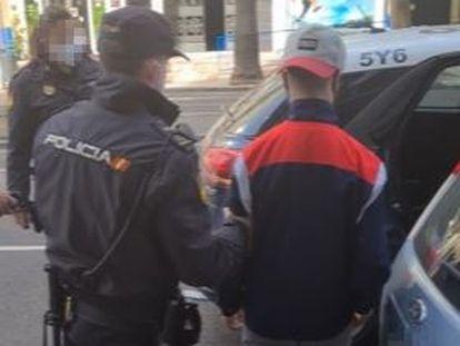 Uno de los siete detenidos en Málaga.