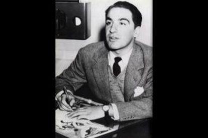 Álvaro Mutis en los años cincuenta.