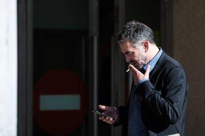 Emilio Camino, a su llegada a los juzgados de Santiago.