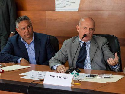 Hugo Carvajal, a la derecha, en una imagen de 2016.
