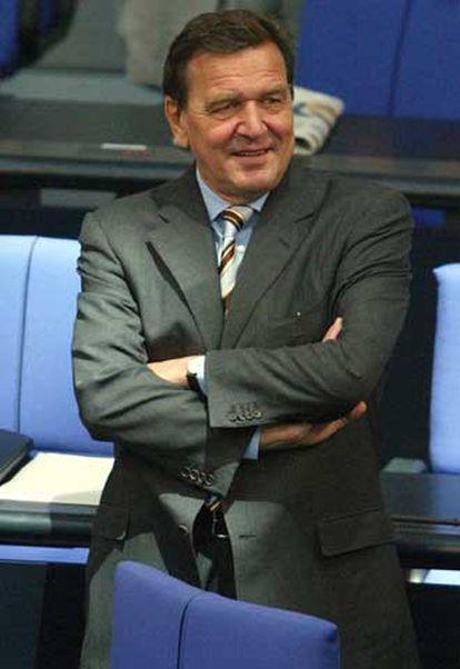 Gerhard Schröder, en el Parlamento alemán en septiembre de 2003.