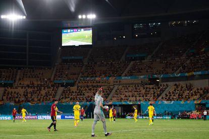 Partido de la Eurocopa 2021 en Sevilla, entre Suecia y España, uno de los primeros con asistencia masiva de público que se disputaban en nuestro país después de más de un año de deporte profesional a puerta cerrada.