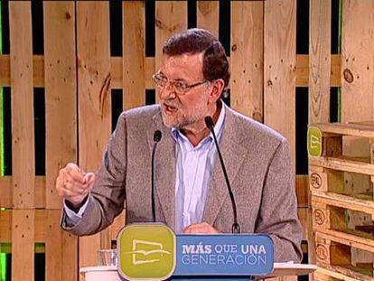 "Rajoy: ""Ya se ve la luz al final del túnel"""