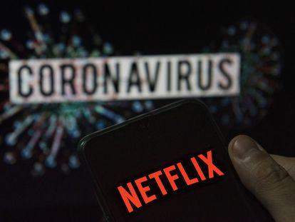 El logo de Netflix en un móvil. La plataforma ha sumado casi 16 millones de nuevos usuarios en el primer trimestre de 2020.