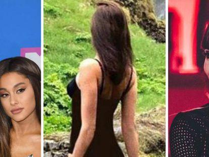 Ariana Grande y Pete Davidson; Irina Shayk; y Aitana Ocaña.