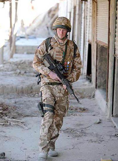 El príncipe Enrique de Inglaterra, en Garmisir (Afganistán).