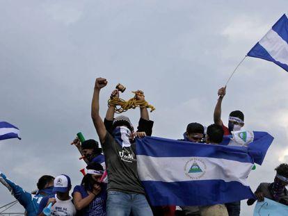 Una de las manifestaciones contra Daniel Ortega en Managua, en mayo de 2018.