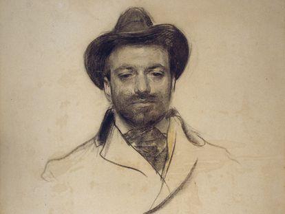 Josep Maria Sert retratado por Ramon Casas.
