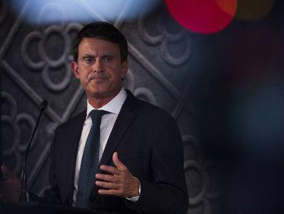 Valls, durante la presentación de su candidatura.