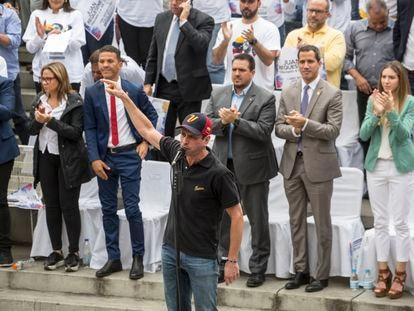 Henrique Capriles, durante un acto en Caracas, en agosto de 2019.