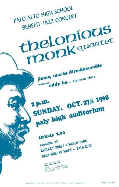 Cartel con el anuncio del concierto en el instituto Palo Alto.