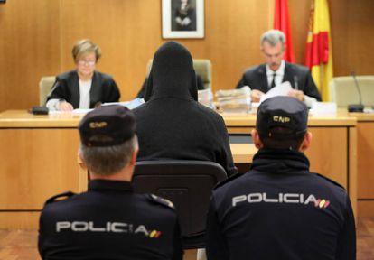 Pedro Antonio Ramos Lominchar, exreligioso del Colegio La Salle, hoy en el juicio en la Audiencia Provincial de Madrid.