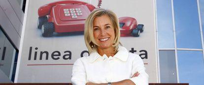 María Dolores Dancausa, actual consejera delega de Bankinter, cuando era la CEO de Línea Directa.