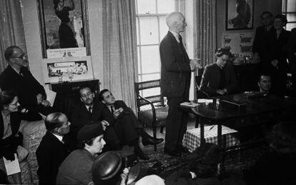 El economista William Henry Beveridge, en 1943.