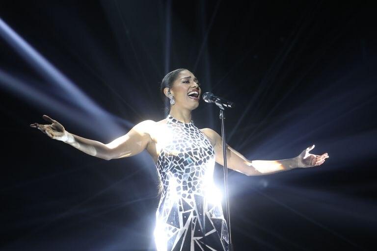 Nia Correia, durante su actuación en la gala 11 de 'Operación Triunfo'.