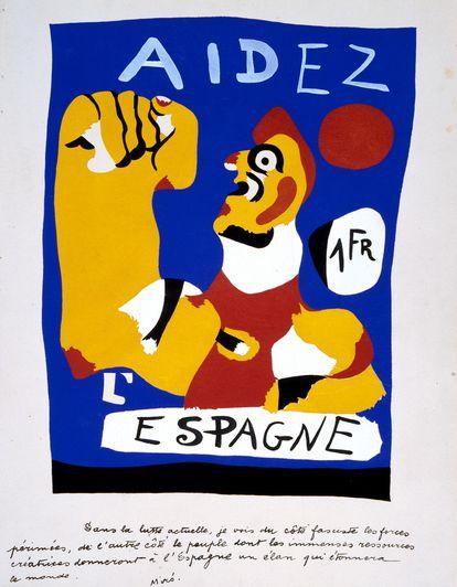 'Aidez l'Espagne', 1937, de Joan Miró, que se podrá ver en la exposición de ADLAN.