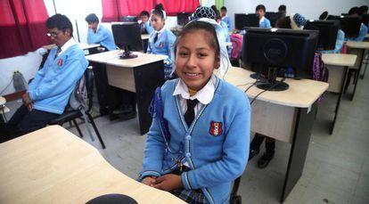 Institución Educativa Coras, en Perú.
