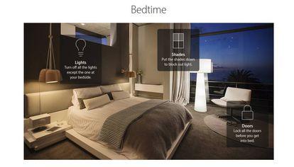 Recreación de una habitación controlada con Siri y Home.
