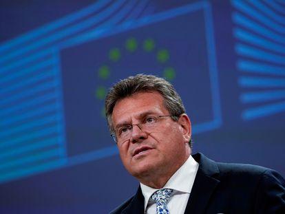 El vicepresidente de la Comisión Europea y responsable del Brexit, Maros Sefcovic.