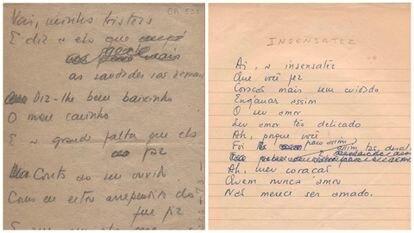 Blots of 'Chega de saudade' and 'Insensatez'.