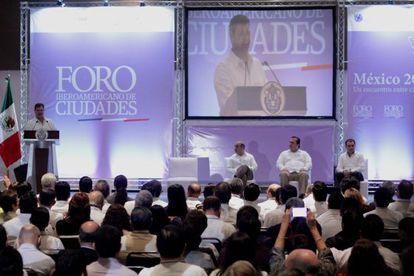 Inauguración del Foro Iberoamericano de Ciudades en Veracruz.