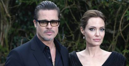 Los actores Brad Pitt y Angelina Jolie.
