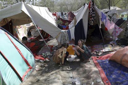 Reemplazado por los combates en el norte de Afganistán este viernes en un parque de Kabul.