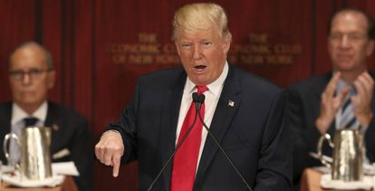 Donald Trump en el Economic Club of New York