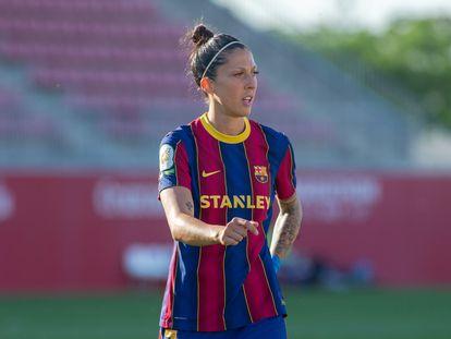 Jennifer Hermoso, durante un partido de esta temporada.
