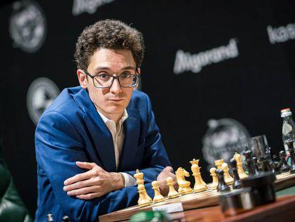 Caruana, hace un mes, en el Torneo de Candidatos de Yekaterimburgo (Rusia)