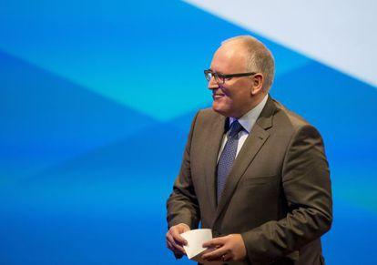 Frans Timmermans en una intervención en el Congreso holandés, el pasado agosto.
