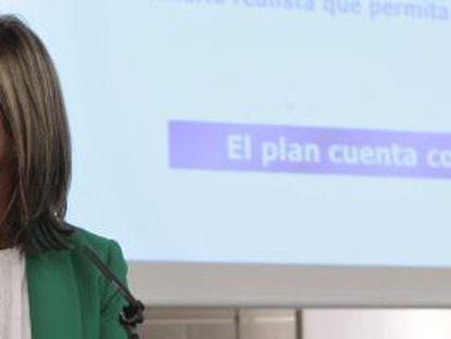 La ministra de Sanidad, Ana Mato, durante la rueda de prensa del viernes tras el Consejo de Ministros.