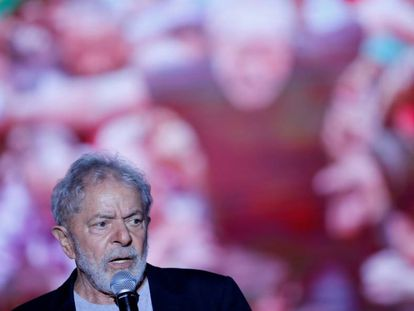 Lula da Silva en Recife, Brasil, el domingo pasado.