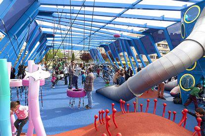 El parque temático del Océano, que ocupa 500 metros cuadrados.
