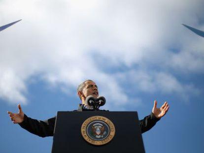 Barack Obama durante un acto electoral en New Hampshire.