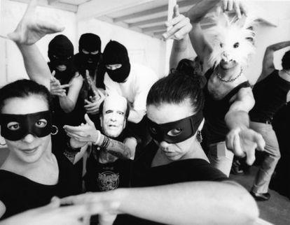 "Miembros de Flo6X8, ""grupo de flamenco anticapitalista""."