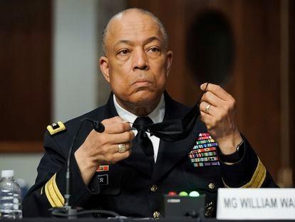 El general William Walker, en su comparecencia en el Congreso.
